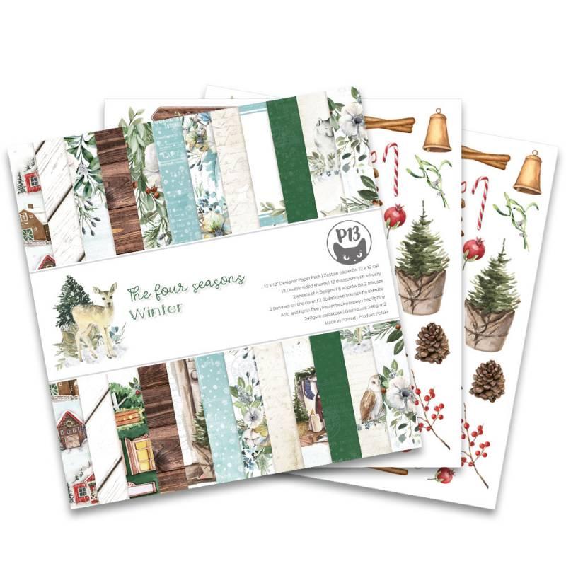 """Bloczek papierów The Four Seasons - Winter, 12x12"""""""