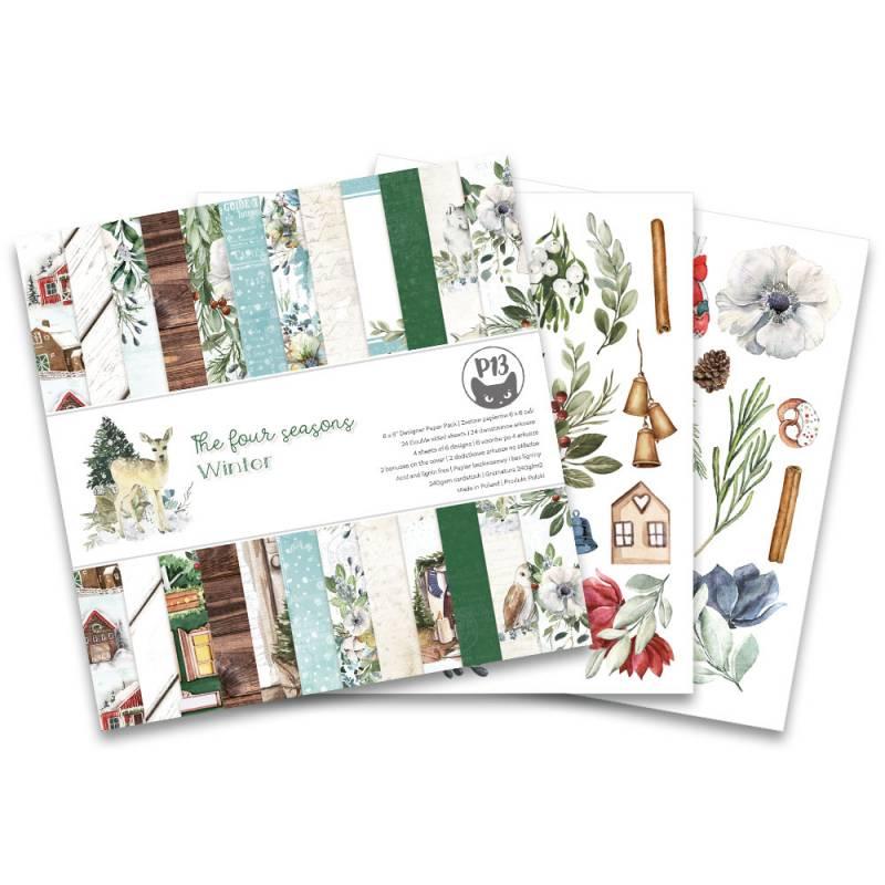"""Bloczek papierów The Four Seasons - Winter, 6x6"""""""