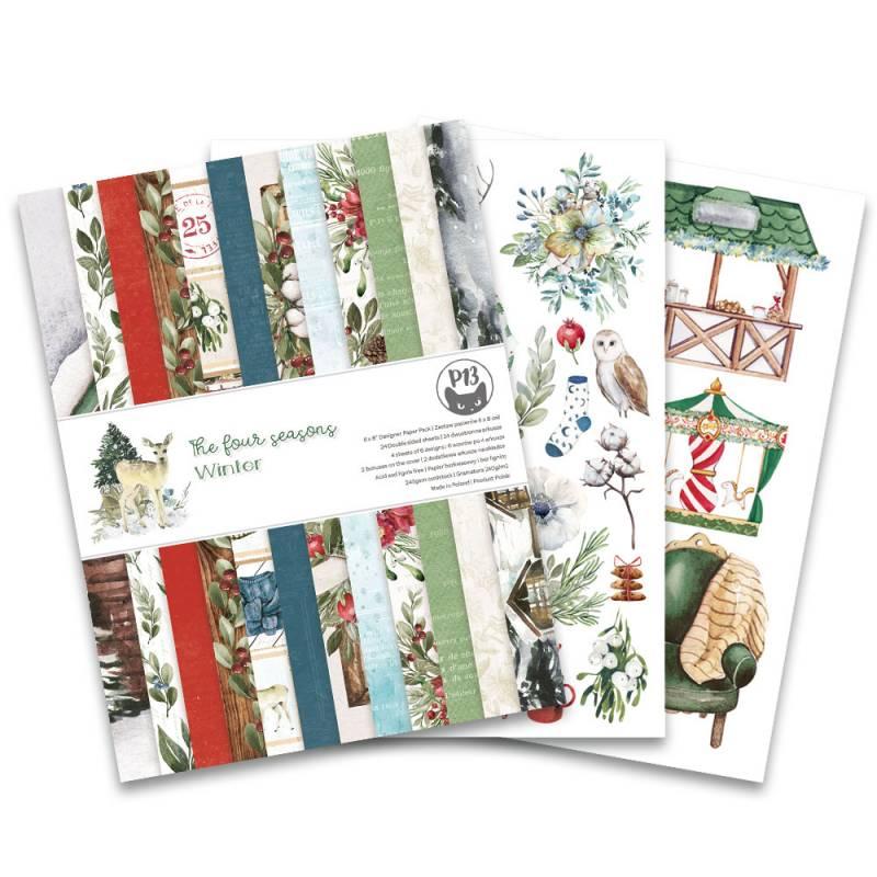 """Bloczek papierów The Four Seasons - Winter, 6x8"""""""