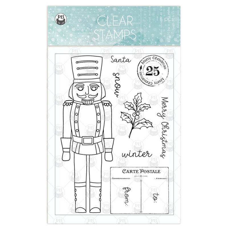 Clear stamp set The Four Seasons - Winter 01 , 11 pcs