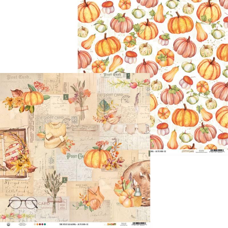 "Paper The Four Seasons - Autumn 02, 12x12"""