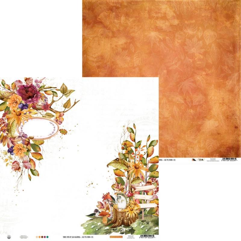 "Paper The Four Seasons - Autumn 03, 12x12"""