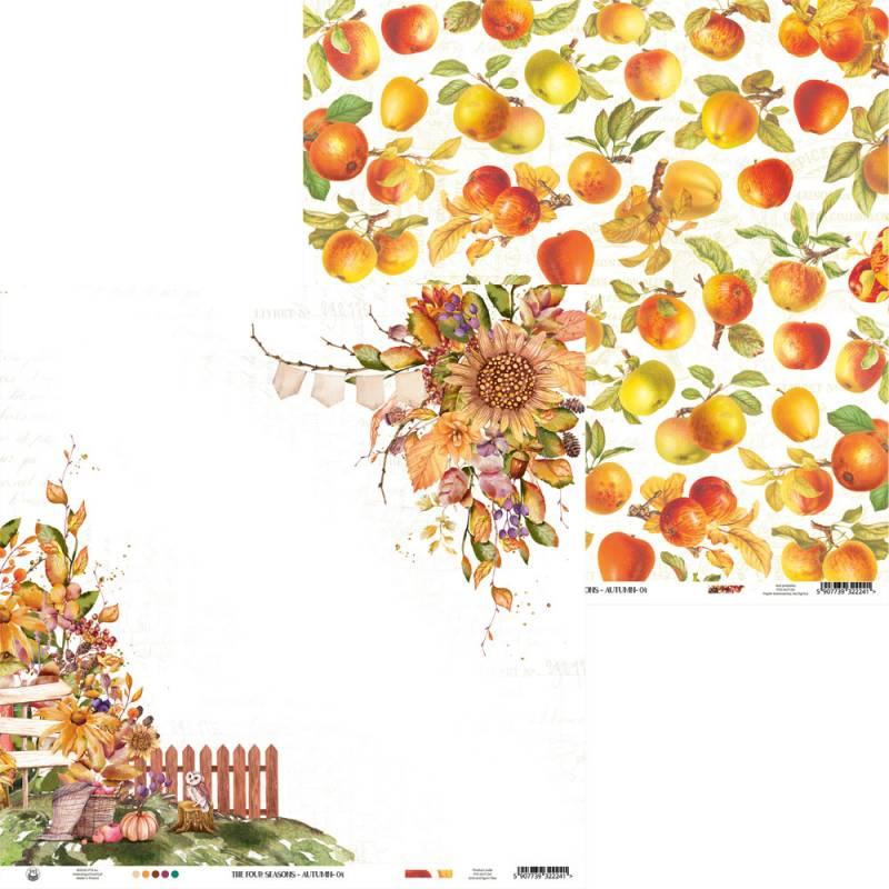 "Paper The Four Seasons - Autumn 04, 12x12"""