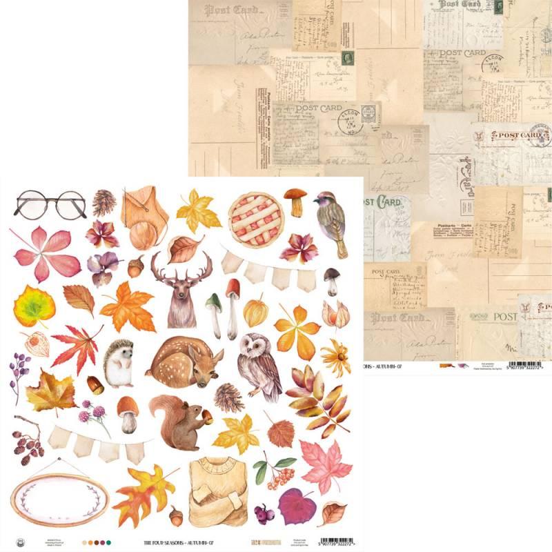 "Paper The Four Seasons - Autumn 07, 12x12"""