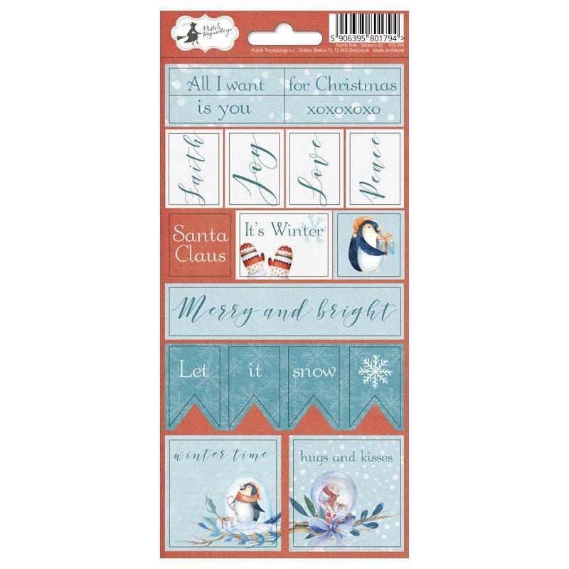 Sticker sheet North Pole 02, 10,5 x 23cm