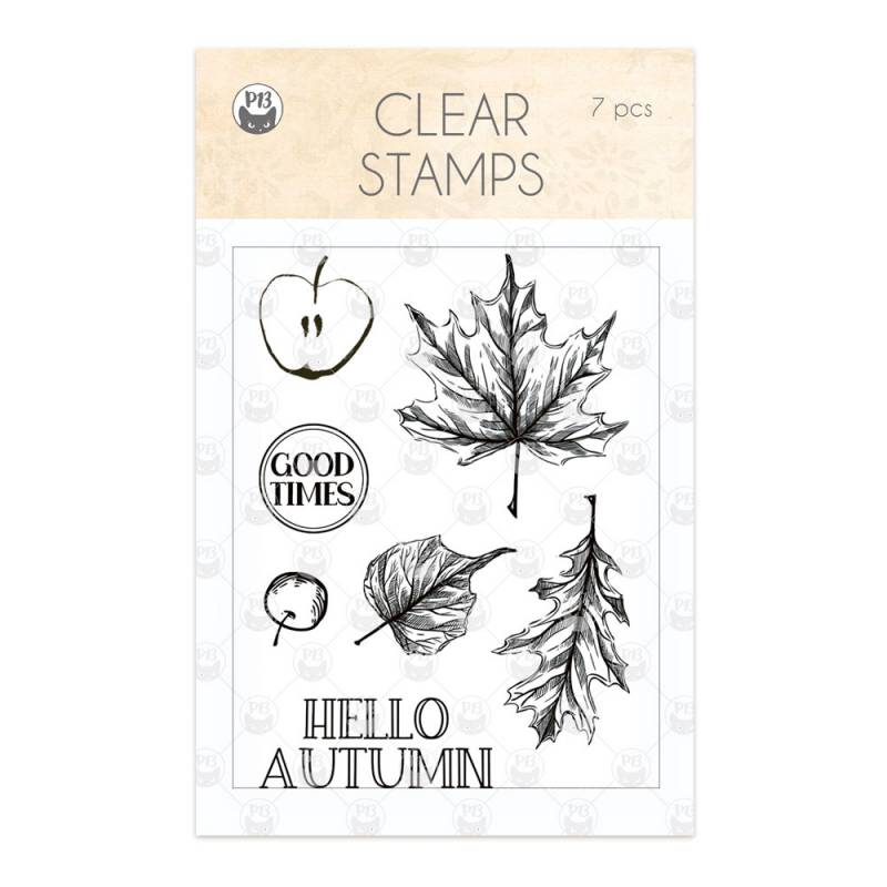 Clear stamp set The Four Seasons - Autumn 01, 7 pcs