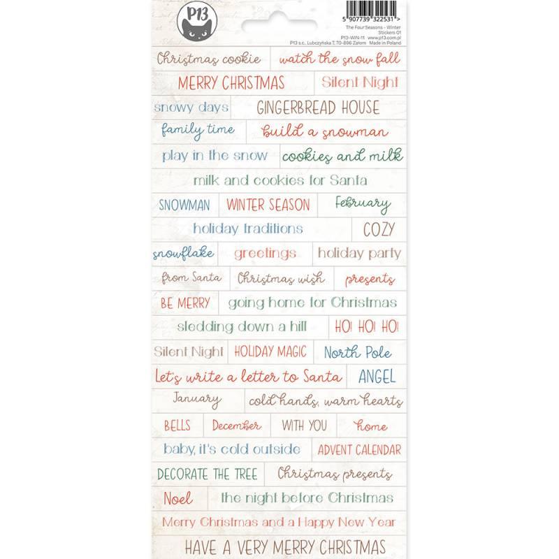 Sticker Sheet The Four Seasons - Winter 01, 10,5 x 23cm