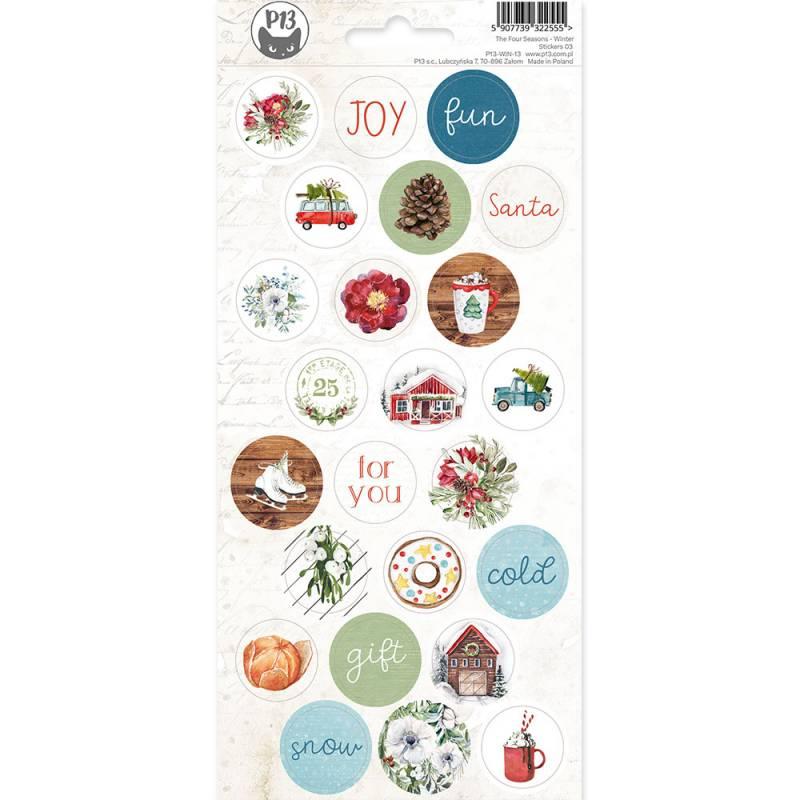 Sticker Sheet The Four Seasons - Winter 03, 10,5 x 23cm