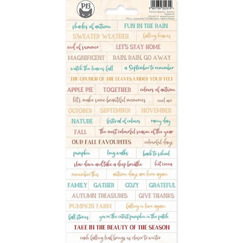 Sticker Sheet The Four Seasons - Autumn 01, 10,5 x 23cm