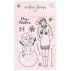 Clear stamp set Joy, 9 pcs.