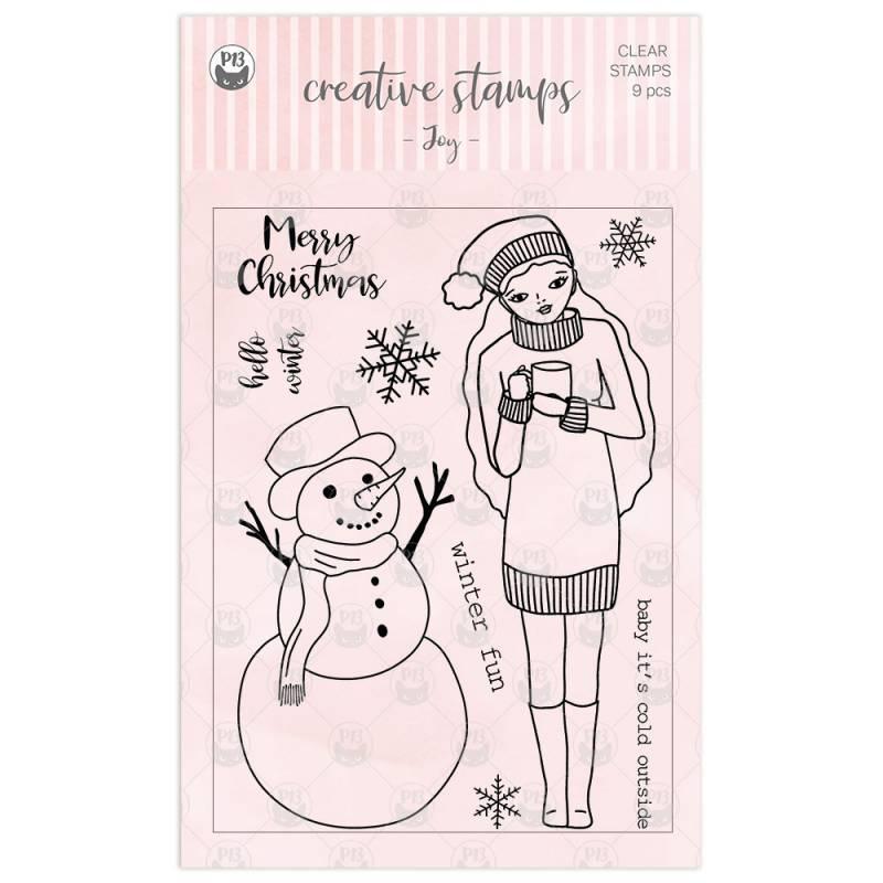 Clear stamp set Joy, 9 pcs.