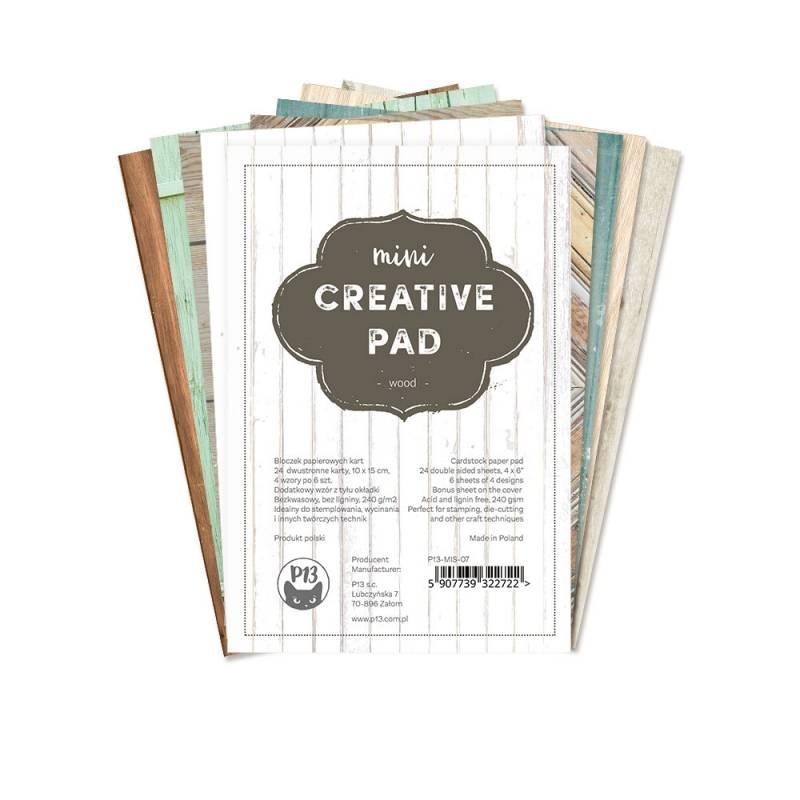 """mini Creative Pad wood, 6x4"""""""