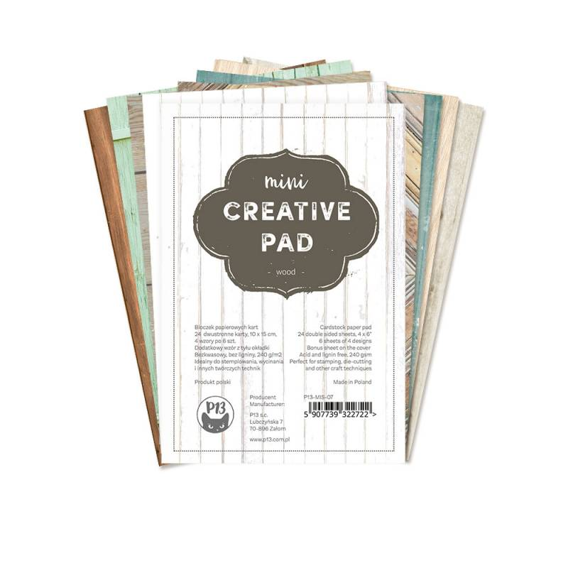 mini Creative Pad wood, 6x4""