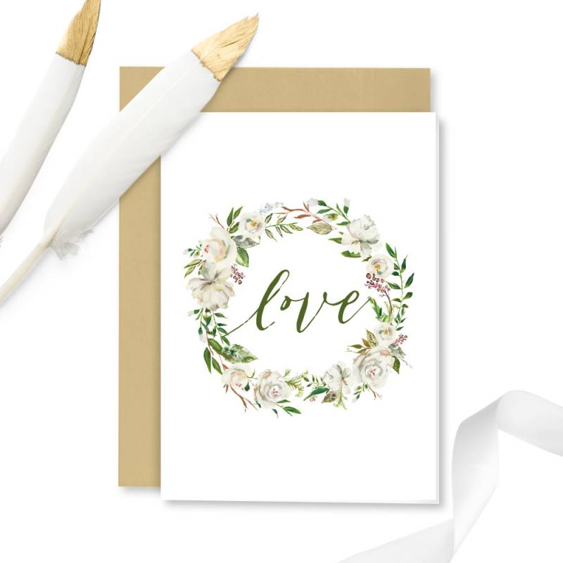 Greeting card with envelope Love 01, A6
