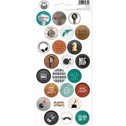 Sticker sheet Free Spirit 03, 10,5 x 23cm