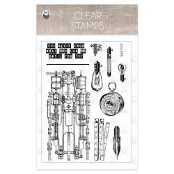 Clear stamp set Free Spirit 01, 11 pcs