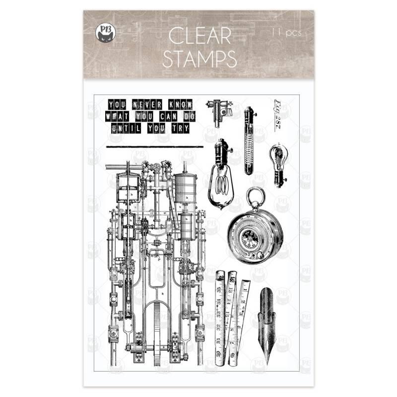 Clear stamp set Free Spirit 01, 11 pcs