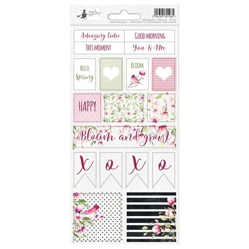 Sticker sheet Hello Beautiful 02, 10,5 x 23cm