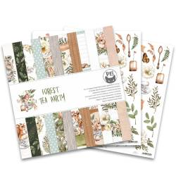 Paper pad Forest tea party, 12x12""