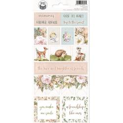 Sticker sheet Forest tea party 02, 10,5 x 23cm