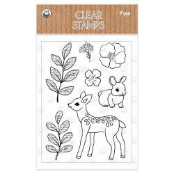 Clear stamp set Forest tea party 02, 7 pcs