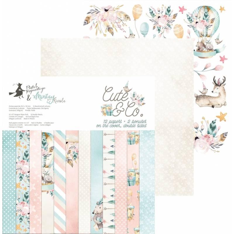 """Paper pad Cute & Co., 12x12"""""""