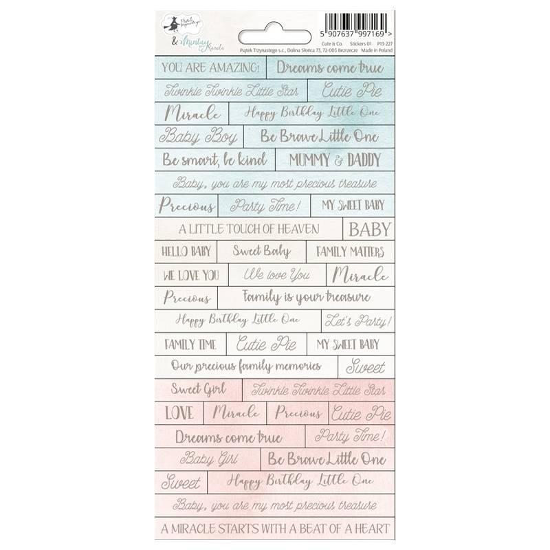 Sticker sheet Cute & Co. 01, 10,5 x 23cm