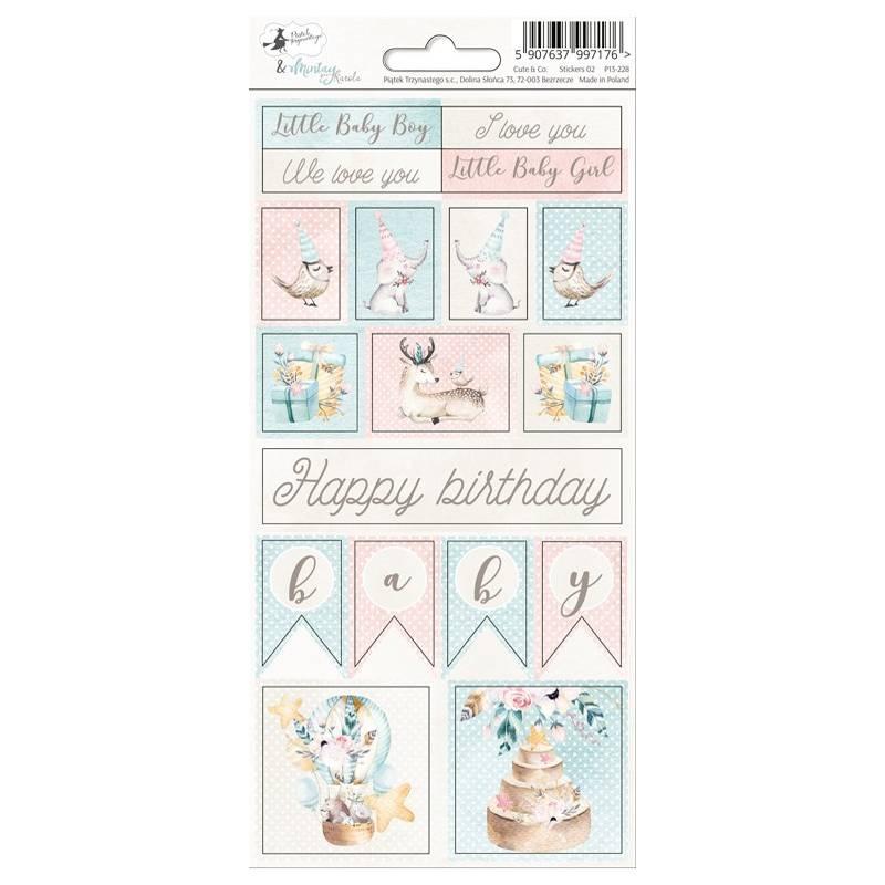 Sticker sheet Cute & Co. 02, 10,5 x 23cm