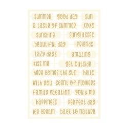 Light chipboard embelishments The Four Seasons - Summer 06, 23pcs