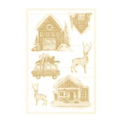 Light chipboard embelishments The Four Seasons - Winter 04, 6pcs
