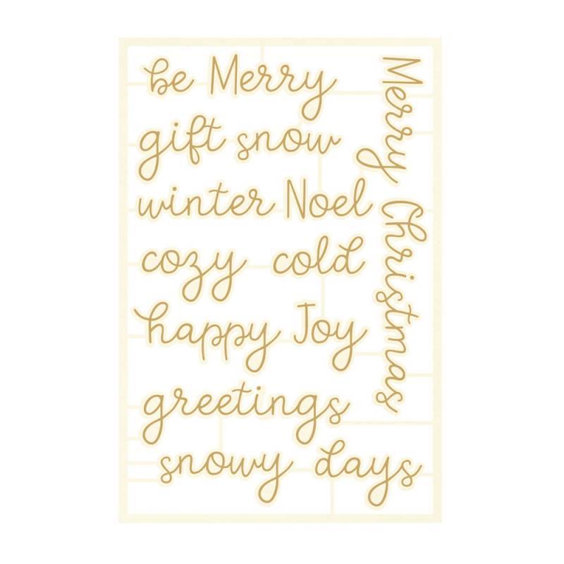 Light chipboard embelishments The Four Seasons - Winter 07, 12pcs
