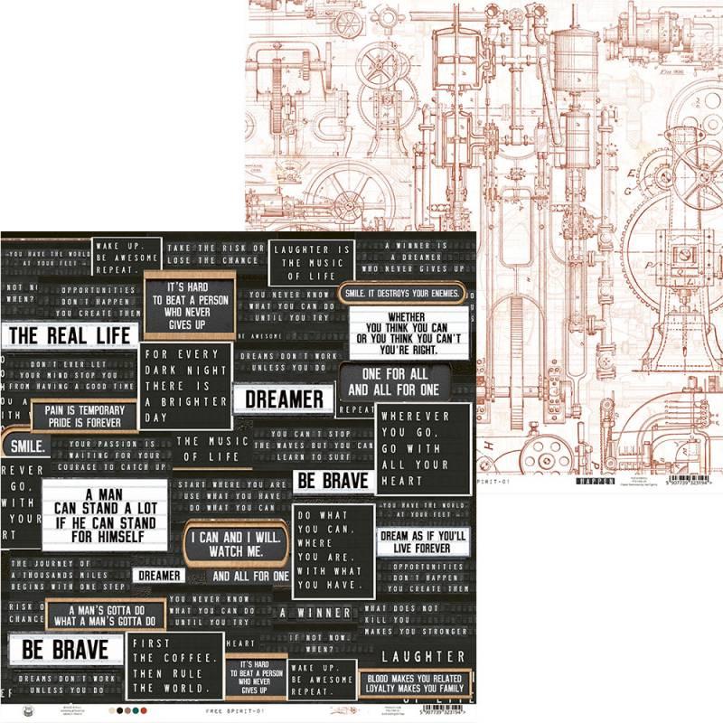 "Papier Free Spirit 01, 12x12"""