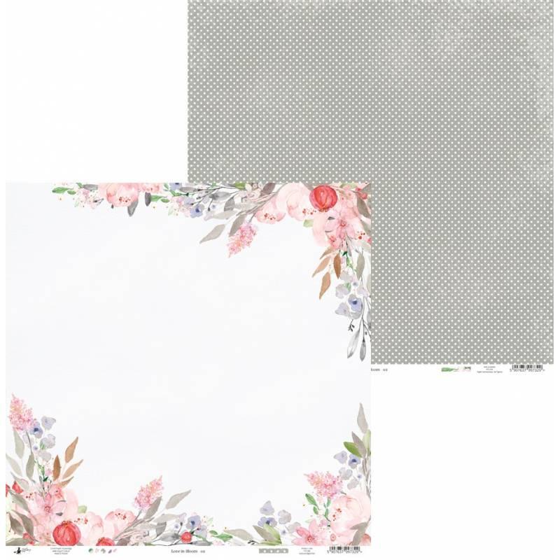 "Paper Love in Bloom 02, 12x12"""