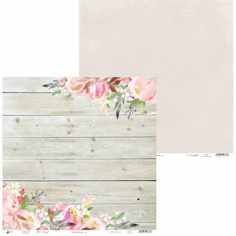 "Papier Love in Bloom 03, 12x12"""