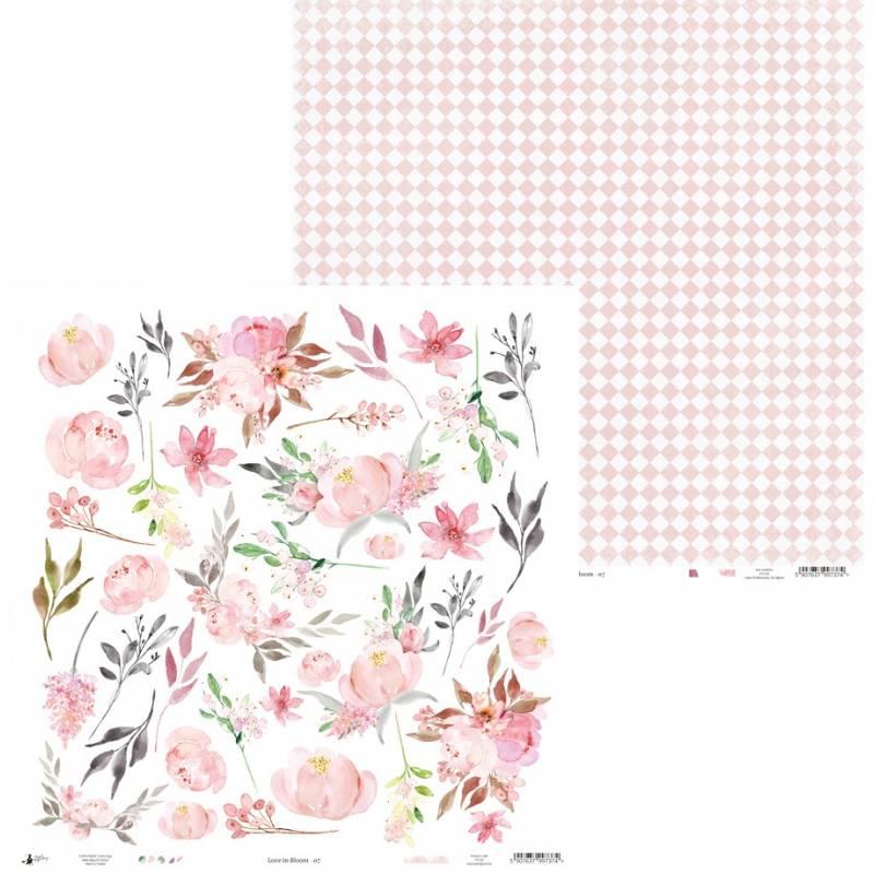 "Paper Love in Bloom 07, 12x12"""