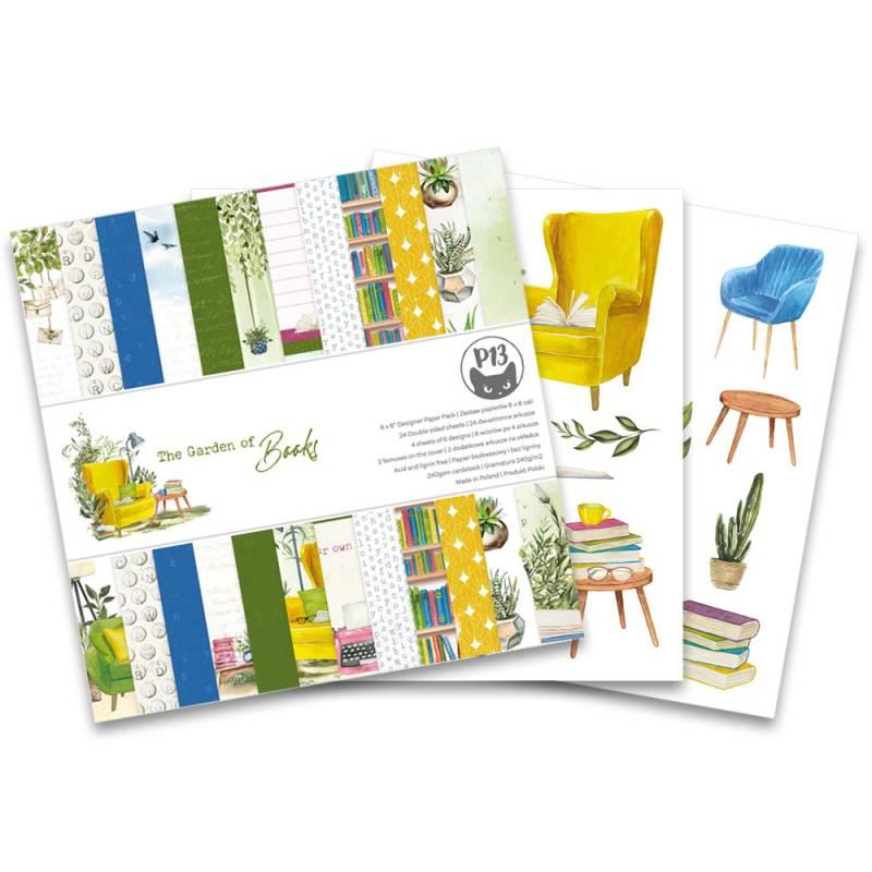 "Paper pad Garden of Books, 6x6"""