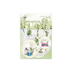 Decorative tags The Garden of Books 01, 9pcs