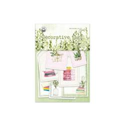 Decorative tags The Garden of Books 03, 7pcs