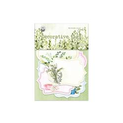 Decorative tags The Garden of Books 04, 6pcs