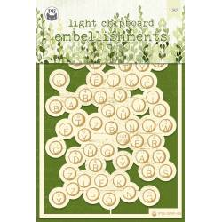 "Light chipboard embellishments The Garden of Books 03, 4x6"", 1pcs"