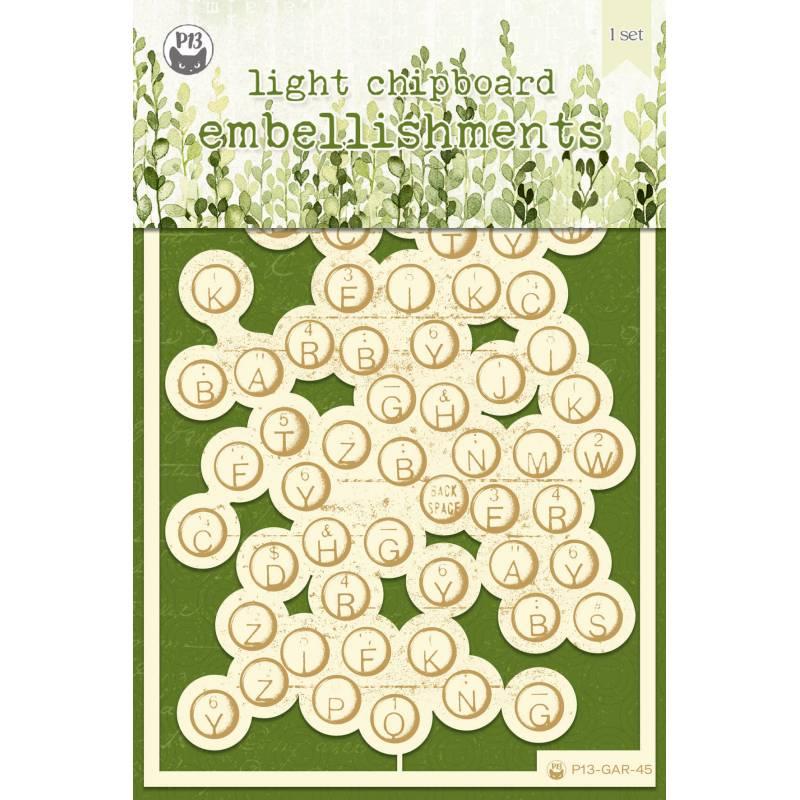 "Light chipboard embellishments The Garden of Books 03, 4x6"", 1pcs"
