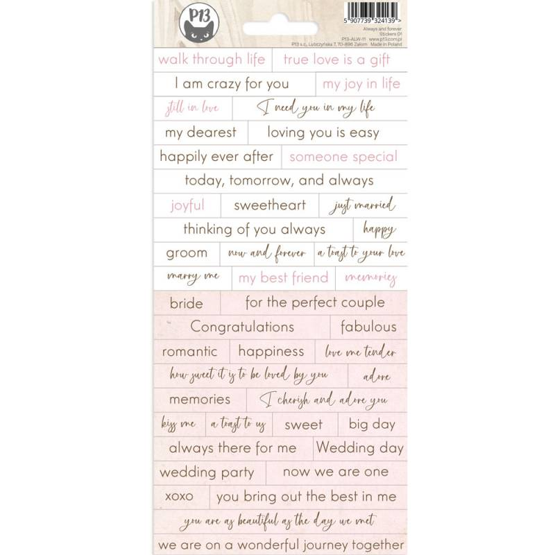 Sticker sheet Always and forever 01, 10,5 x 23cm