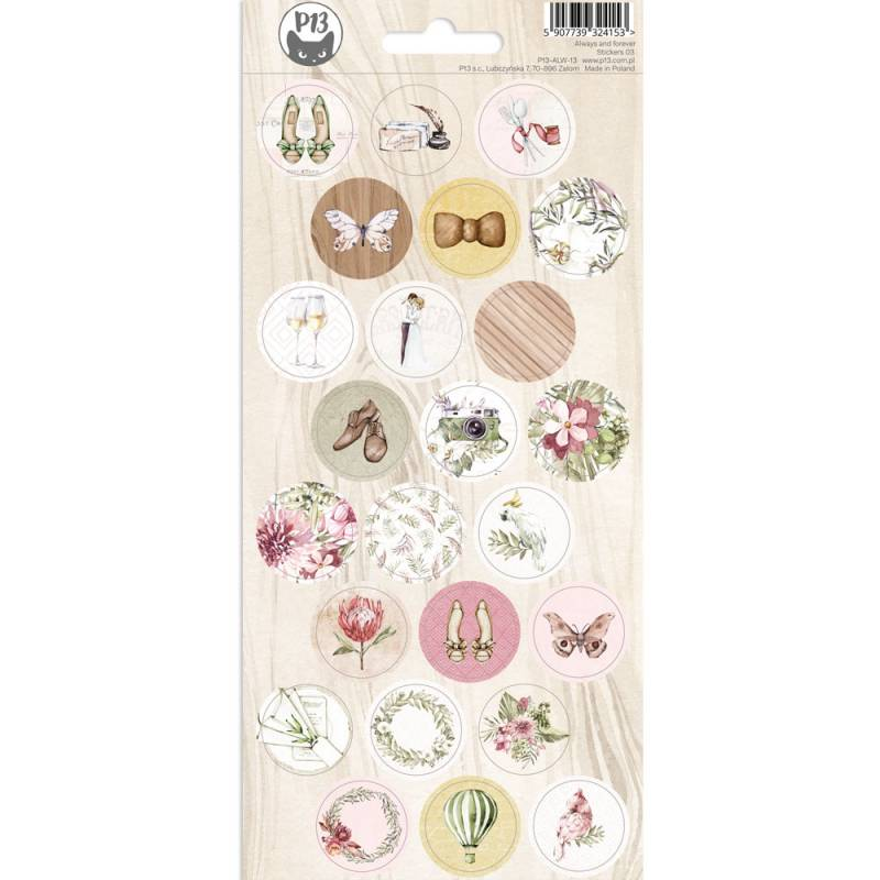 Sticker sheet  Always and forever 03, 10,5 x 23cm