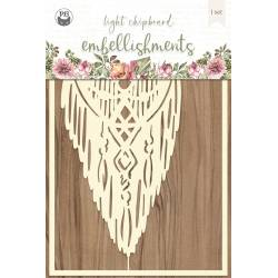 "Light chipboard embellishments Always and forever 02, 4x6"", 1pcs"