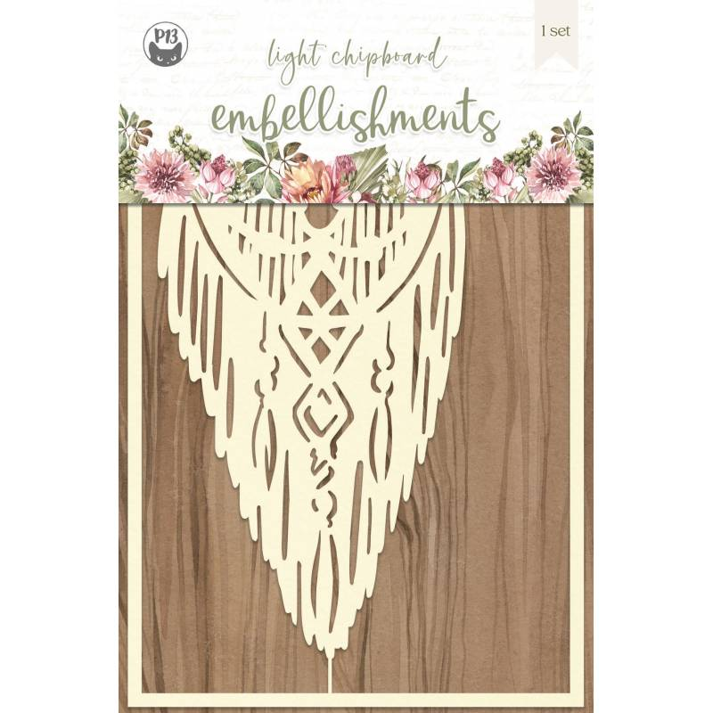 """Light chipboard embellishments Always and forever 02, 4x6"""", 1pcs"""