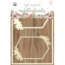 "Light chipboard embellishments Always and forever 03, 4x6"", 2pcs"
