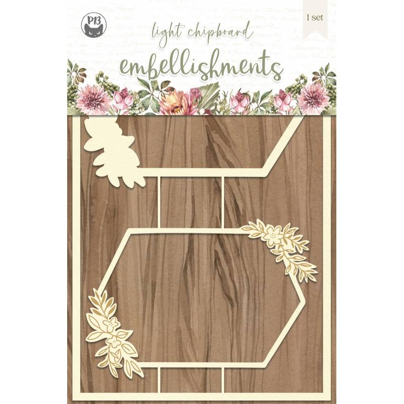 """Light chipboard embellishments Always and forever 03, 4x6"""", 2pcs"""