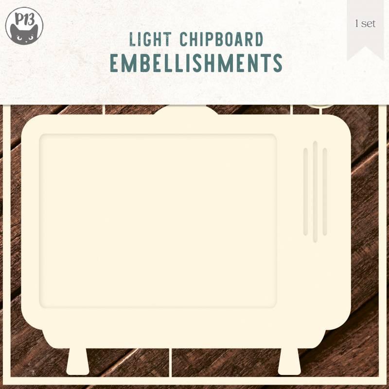 "Light chipboard deco base TV, 6x6"""