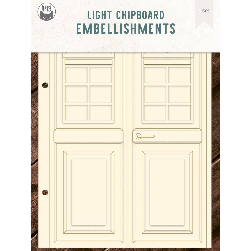 """Light chipboard album base Door, 6x8"""""""