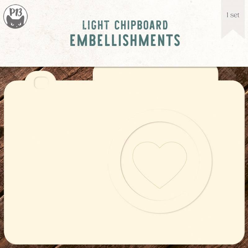 "Light chipboard album base Photo, 6x6"""